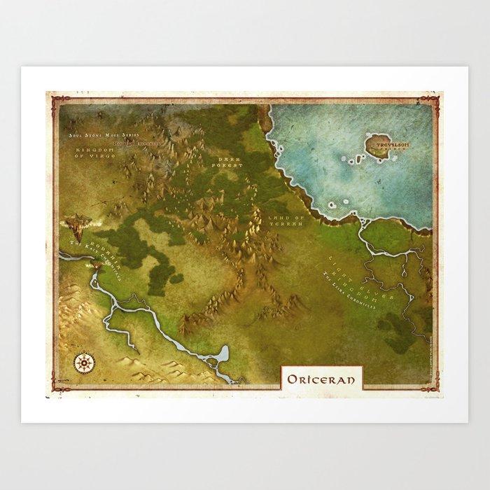 Oriceran Map Art Print