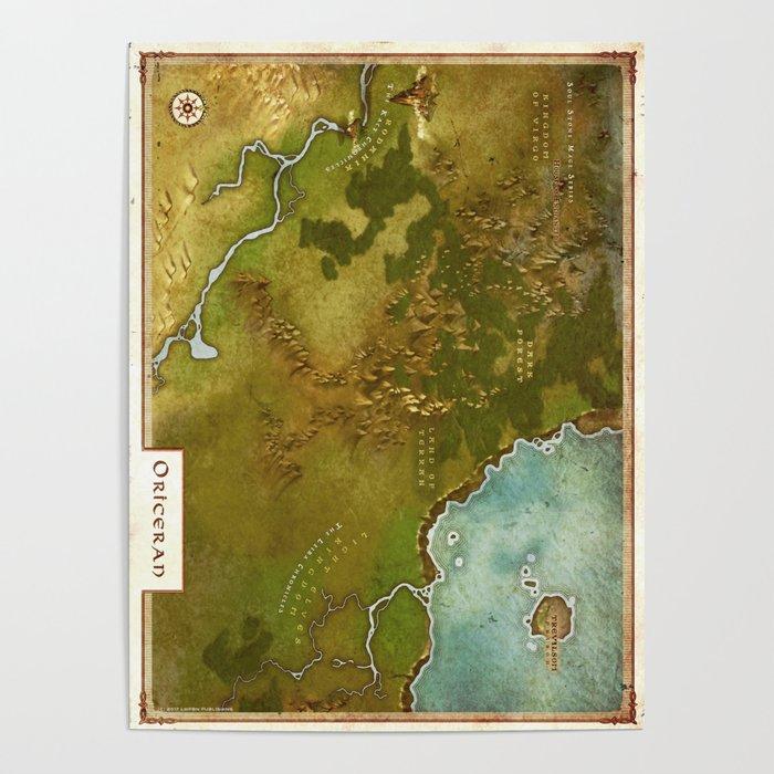 Oriceran Map Poster
